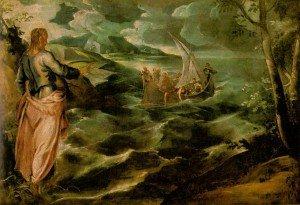 Le Christ et la mer de Galilée Le Tintoret