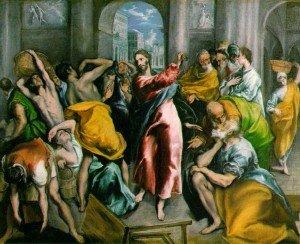 Le Christ t les marchnads Le Gréco